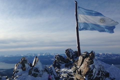 Argentine flag in mountains